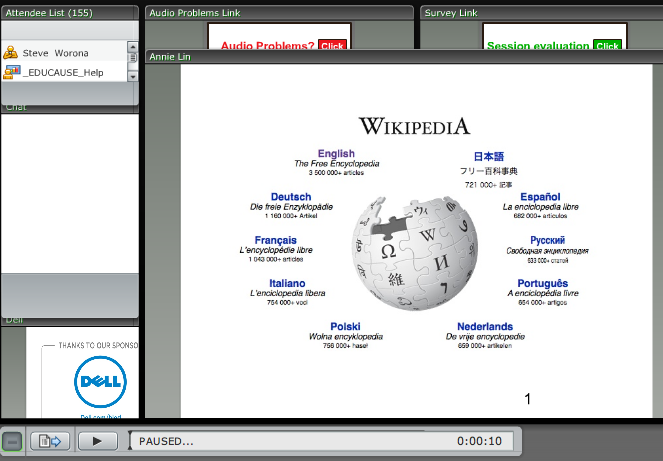 Screenshot of the Webinar